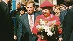 Královna Alžběta II. s Václavem Havlem
