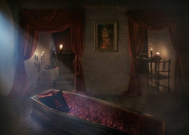 Interiér hradu Bran