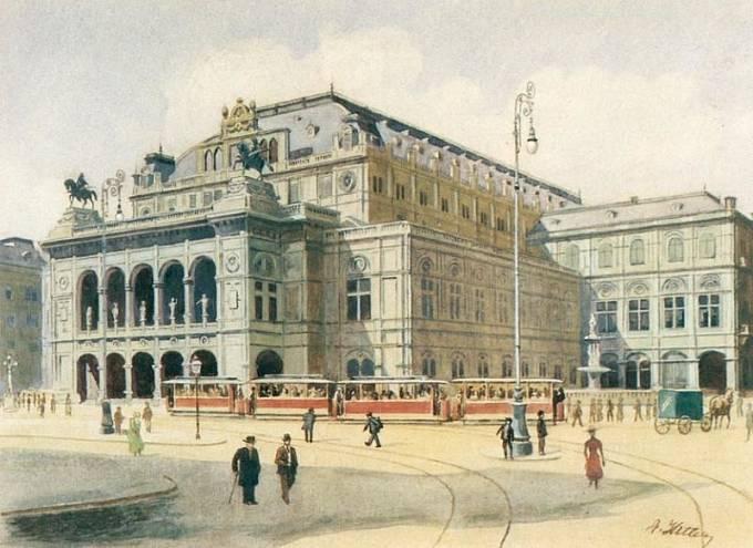 Státní opera ve Vídni, A. Hitler 1912
