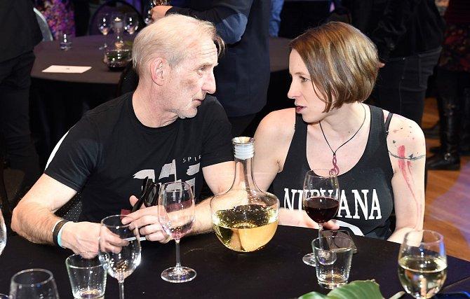 František Černý s partnerkou