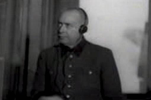 Nacistický válečný zločinec, lékař Johann Paul Kremer.