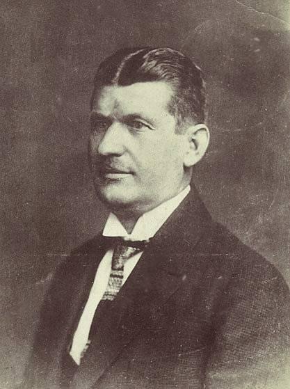 Tomáš Baťa na pohlednici.