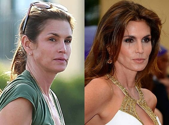Cindy Crawford to sluší i bez make-upu.