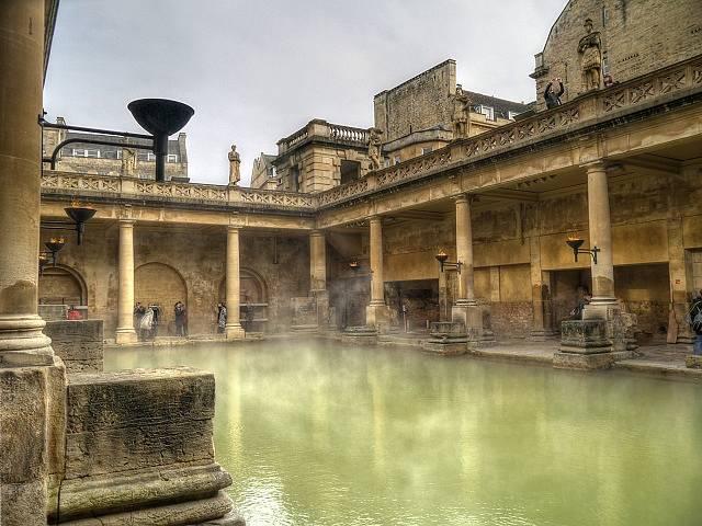 Starověké římské veřejné lázně (thermae).