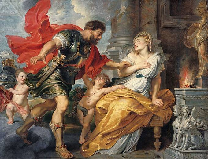 Mýtickou vestálku Rheu Silviu svedl sám bůh války Mars.
