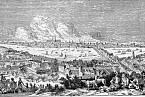 Velký požár Londýna. Ilustrace z knihy Roberta Chamberse Book of Days