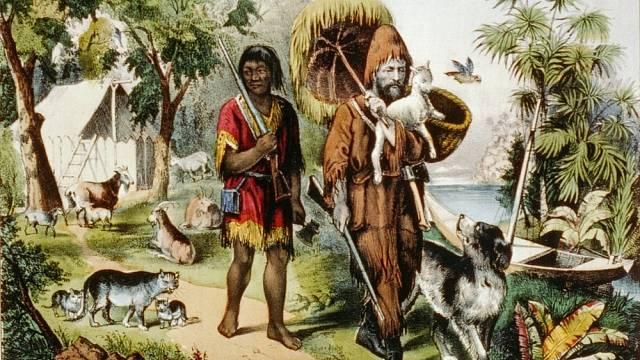 Robinson Crusoe - ilustrace