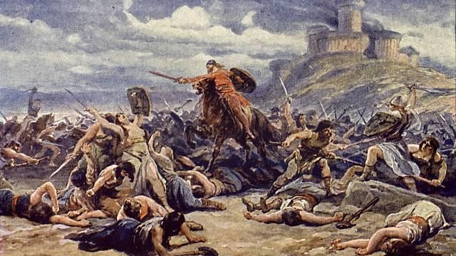 Dívčí válka, malba Adolfa Liebschera
