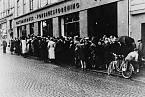 Fronta před norským obchodem za nacistické okupace