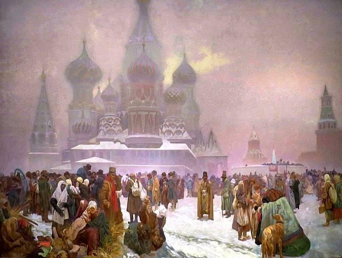 Alfons Mucha, Zrušení nevolnictví na Rusi z cyklu Slovanská epopej (1914)