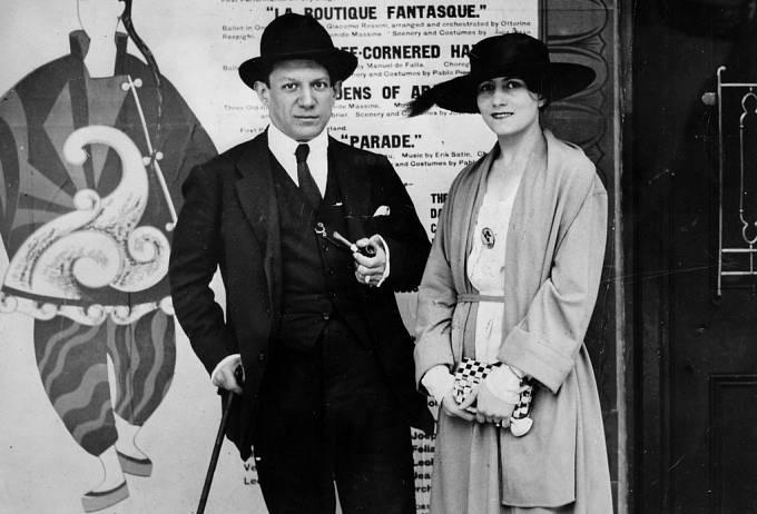 Pablo Picasso a Olga Khokhlova, 1919.