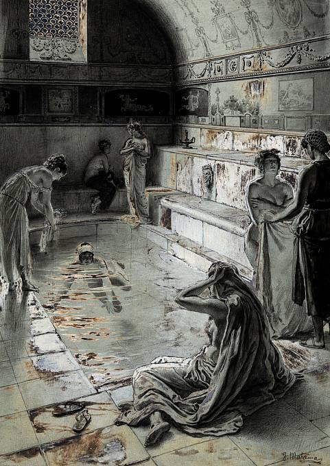 Menší i větší lázně byly rozesety po celé římské říši. K velkému rozvoji veřejných lázní došlo především v císařské éře.