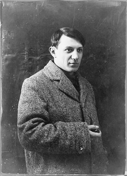 Portrét Pabla Picassa, rok 1908. Picasso měl zde 27 let.