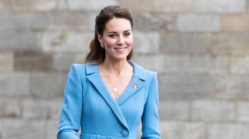 Kate Middleton na nedávné návštěvě Skotska