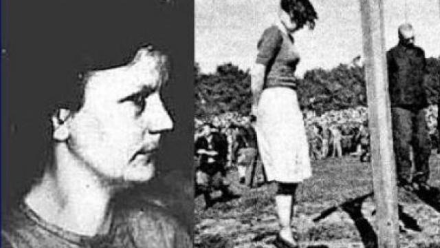 Gerda Steinhoff, nacistická dozorkyně z koncentračního tábora Stutthof byla za své válečné zločiny dne 4. července 1946 veřejně popravena.