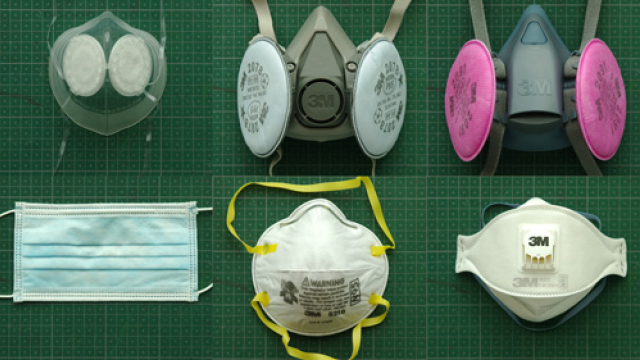 Typy respirátorů (polomasek), masek a roušky. Ochrana dýchacích cest je nezbytná.