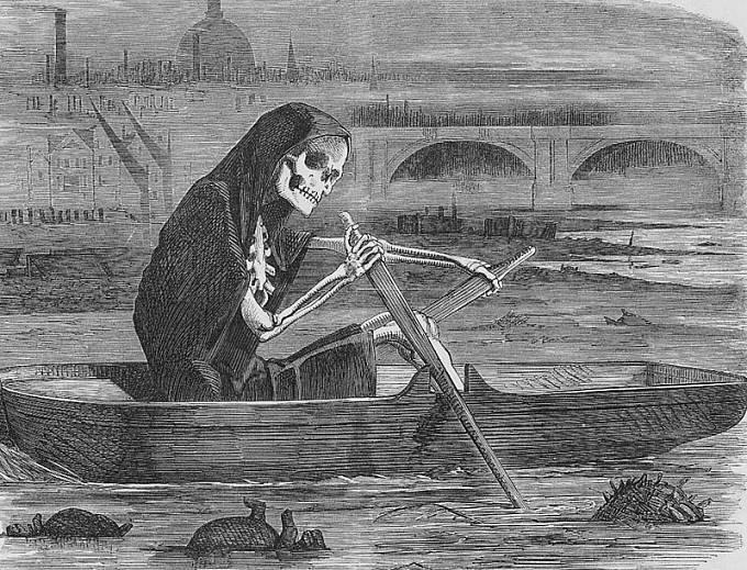 Smrtka si bere životy těch, co nezaplatili poplatek za čištění řeky.