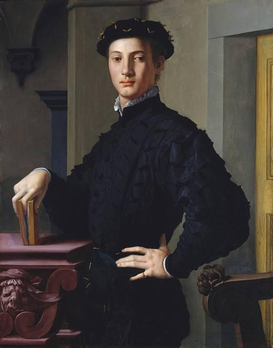 Renesanční portrét hezkého mladíka.