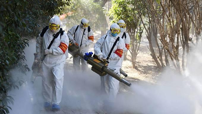 Plošná dezinfekce v Číně