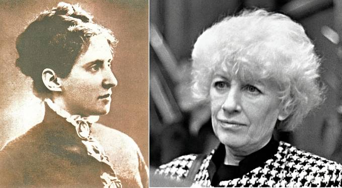 Charlotta Garrigue-Masaryková a Olga Havlová
