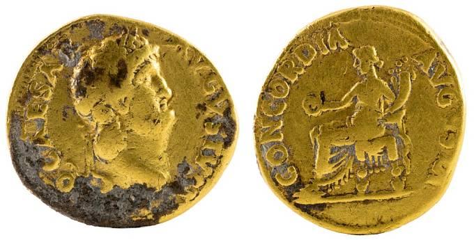 Mince z doby císaře Nerona
