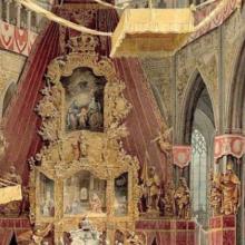 Korunovace Ferdinanda V. v katedrále Sv. Víta.