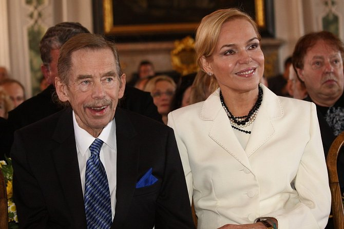 Václav Havel s manželkou