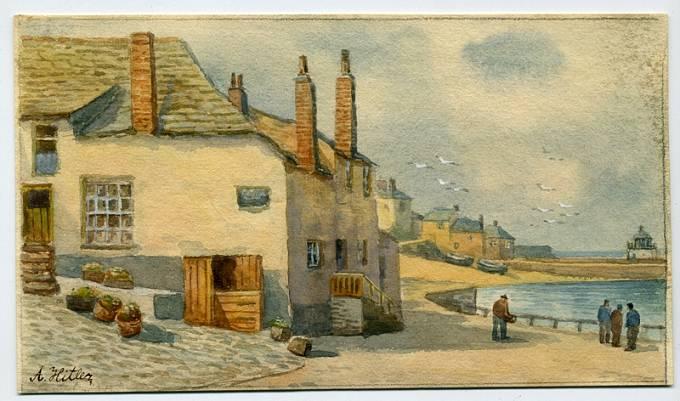Hitler maloval hlavně krajinky a domy.