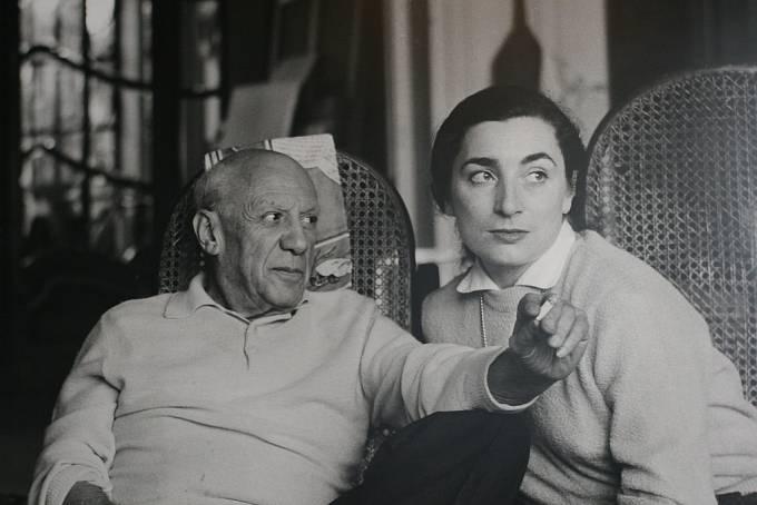 Pablo Picasso a Jacqueline Roque. Oženil se s ní tajně 2. března 1961.