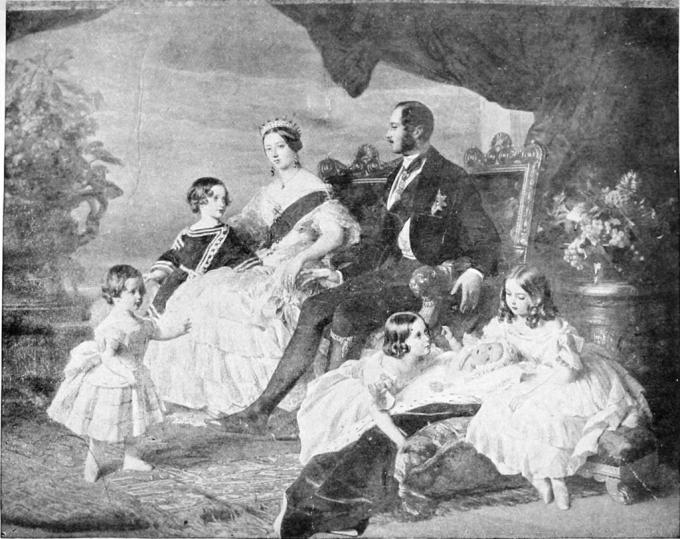 Královna Viktorie s rodinou