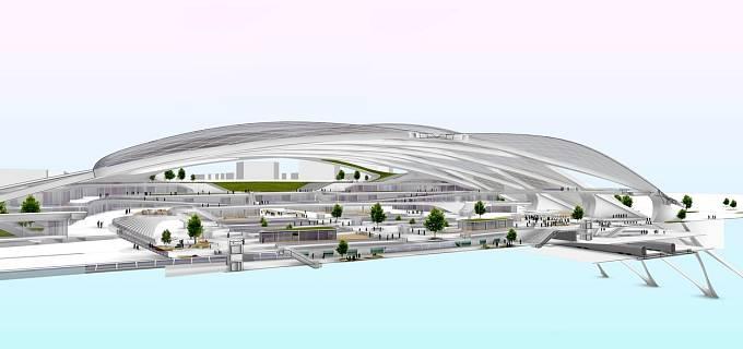 Systém Hyperloopu se skládá ze samotného dopravního prostředku a tuby, která je umístěna v podzemí.