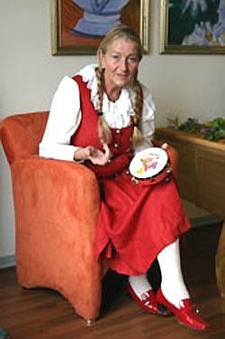 Karin Magnussen v pečovatelském domě pro seniory Helene Donner, Pinneberg