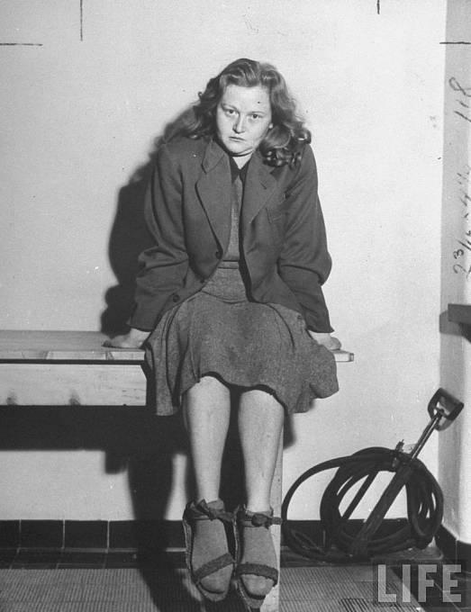 Ilse Koch, srpen 1946 ve své vězeňské cele.