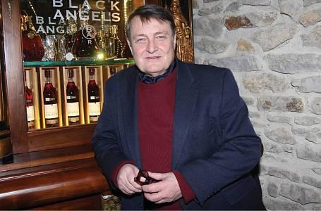 Ladislav Štaidl na křtu knihy Jiřího Štaidla.