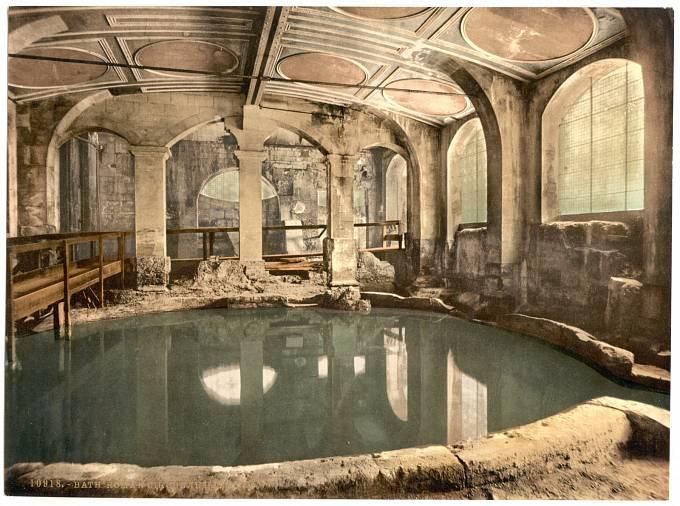 Starořímské kruhové lázně.