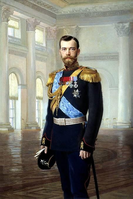 Car Mikuláš II. na portrétu Earnesta Lipgarta