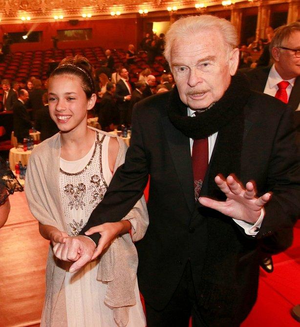 Luděk Munzar s vnučkou Annou