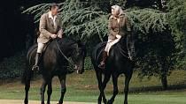 Královna Alžběta II. a Ronald Reagan
