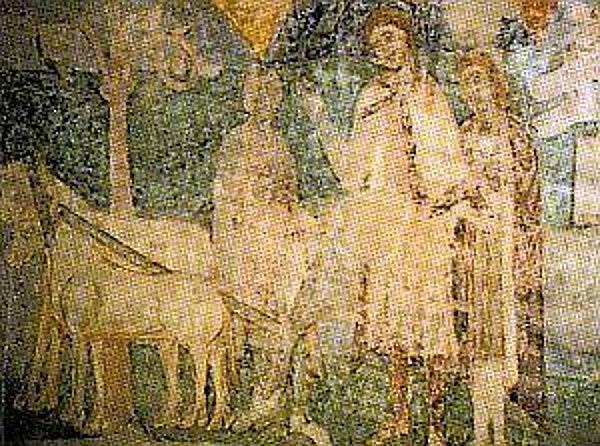Přemysl Oráč na fresce v rotundě sv. Kateřiny ve Znojmě