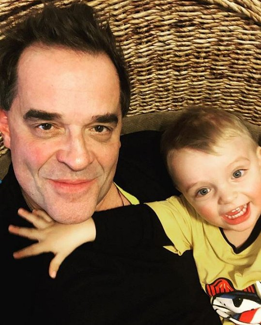 Miroslav Etzler se synem Samuelem