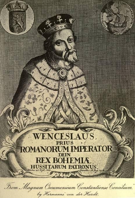 Václav IV. na fiktivním portrétu z doby baroka