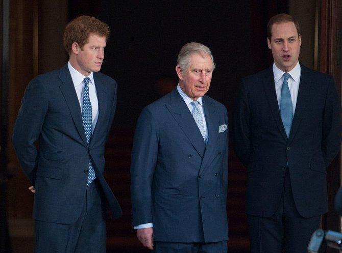 Princ Charles, princ Harry, princ William