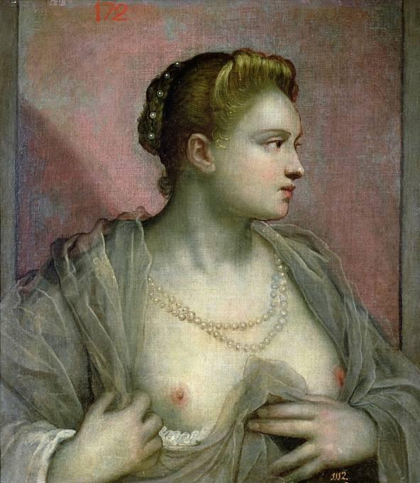 Ženy běžně odhalovaly ňadra, a dokonce si přibarvovaly bradavky.