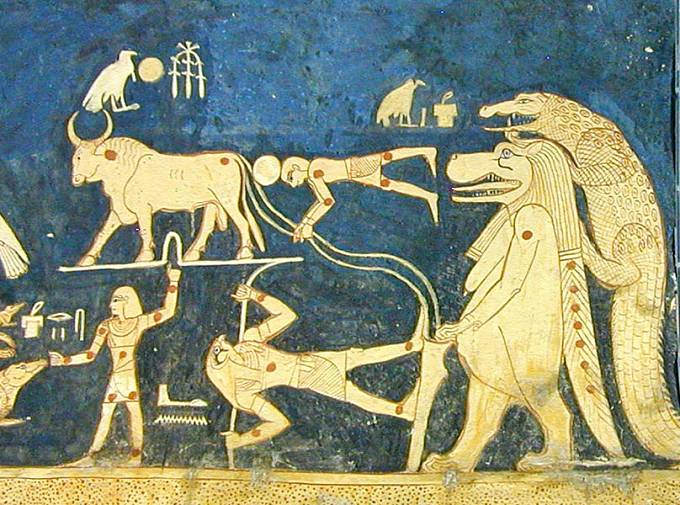 Neplodné ženy prosily o pomoc bohyni Tauret, zobrazovanou jako hrocha.