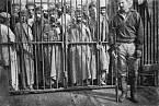 Vězni v gulagu na Sachalinu