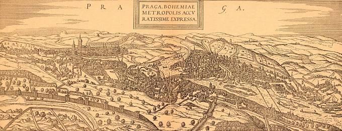Pohled na Prahu za Rudolfa II.