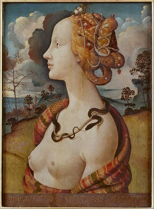 Simonetta Vespucci (asi 1480), autor: Piero di Cosimo