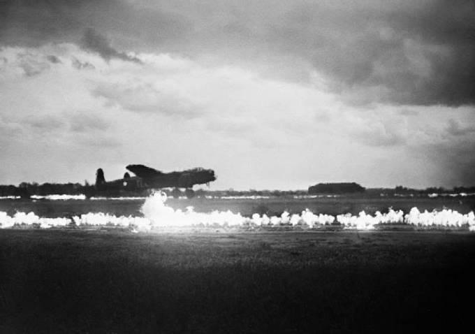 Vzlet britského bombardéru