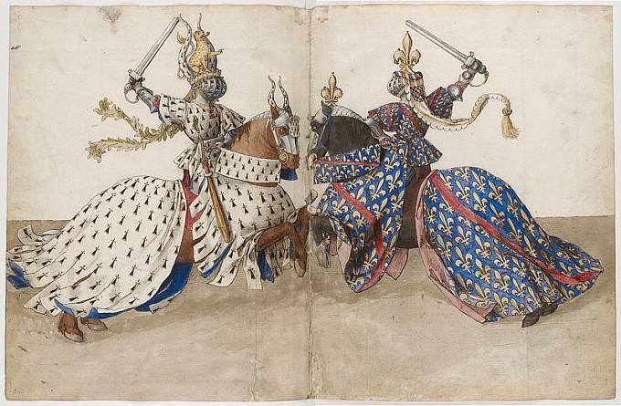 Karel IV. se často účastnil turnajů.