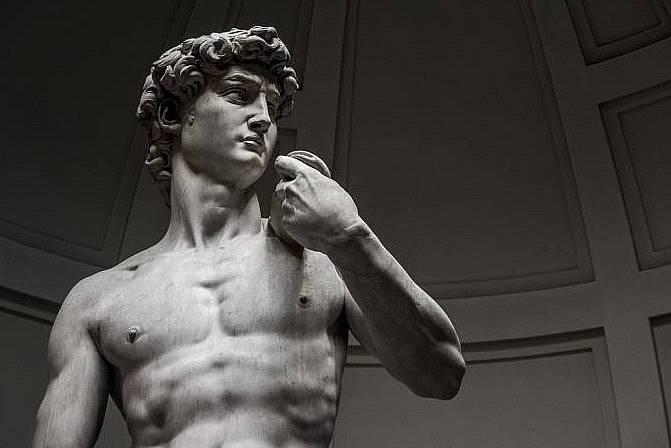 Davidovy intimní partie jsou občas cenzurovány i v moderní době.